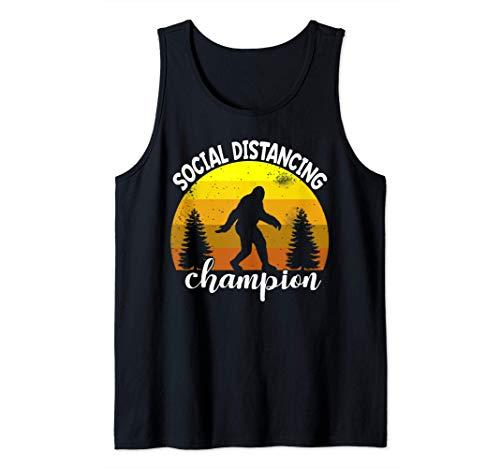 BigFoot Sasquatch Conspiracy Social Distance Champion Gift Tank Top