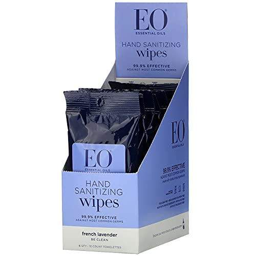 EO Products, Hand Sanitizing Wipes, French Lavender, 6 Pack
