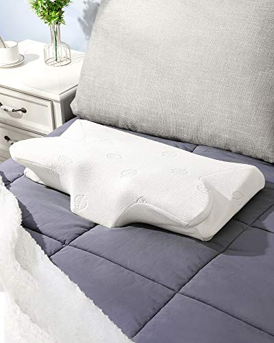 Our #5 Pick is the MARNUR Contour Memory Foam Pillow for Neck Pain