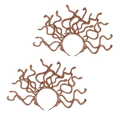 STOBOK 2 Piezas Diadema de Serpiente Medusa Novedad Disfraz de Serpiente Aro de Pelo de Halloween Tocado para Carnaval Mardi Gras Mascarada Suministros de Fiesta