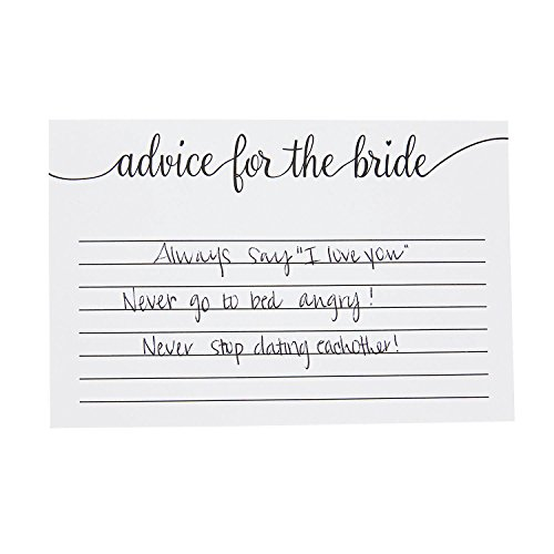 Fun Express - Advice for The Bride Cards (24pc) for Wedding - Stationery - Cards - Note Cards - Wedding - 24 Pieces