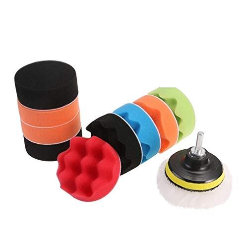 XuCesfs - Juego de 12 discos para pulir y encerar de esponja...