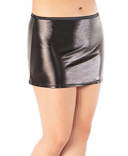 Coquette D915X-BLACK Women's Plus Size Black Wetlook Skirt - 1X-2X - Black