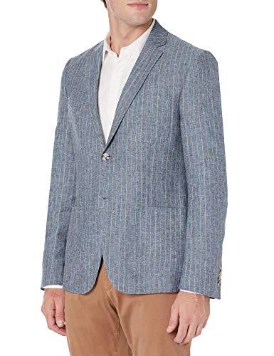 Original Penguin Men's Sport Coat, Dark Blue Stripe, 46 Long