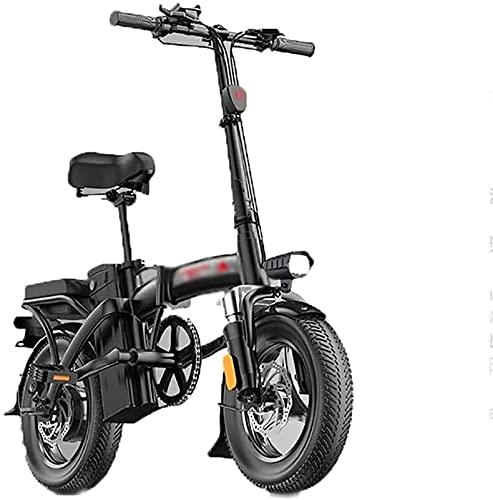 CASTOR Bicicleta electrica Bicicletas eléctricas rápidas para Adultos Bicicletas eléctricas Plegables con 36V 14 Pulgadas, Bicicleta de batería de Litio para Viajes de Ciclismo al Aire Libre.