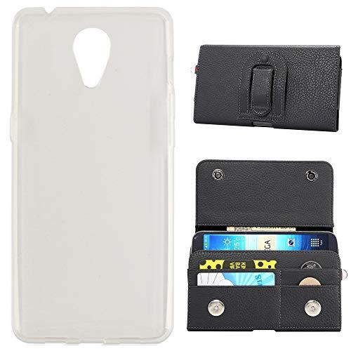TienJueShi Clip Flip Brief Leder Tasche Schutz Hülle Für Oukitel K6000 Plus Case TPU Silikon Abdeckung Wallet Cover Etüi Skin