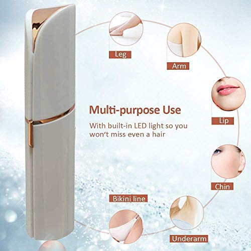STEP DOWN Women's Portable Safe Battery Operated Electric face Trimmer Facial Hair Remover, Rose Gold Hair Remover Machine (Face Trimmer)