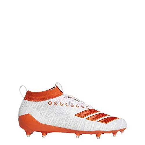 adidas Adizero 8.0 Tacos para Hombre, Blanco (Cloud White/Collegiate Orange/Colleg), 45 EU