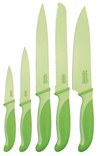 Nivella I Love Colors - Juego de cuchillos (5 unidades), color verde