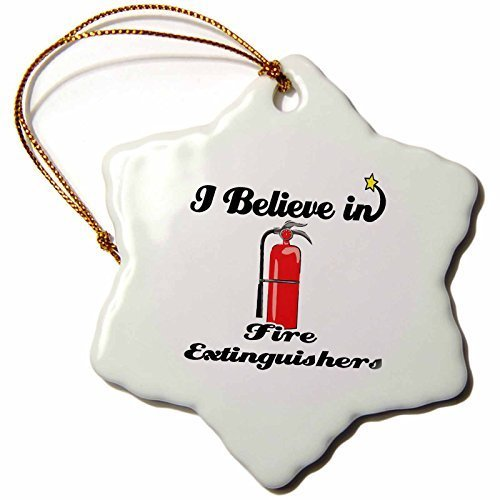 Gloria Yerkes I Believe In Fire Extinguishers - Snowflake Ornament, Porcelain, 3-Inch