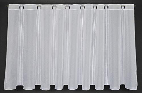 Tenda della finestra in semplici ottica altezza 90 cm | Può scegliere la larghezza in segmenti da 15,5 cm, come vuole | Colore: Bianco | Tendine cucina