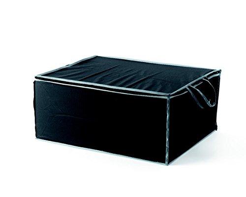 COMPACTOR Housse de Rangement pour Couette, Fermeture Zippée 100% Hermétique, Anti-Poussière, Noir, Polypropylène et EVA, 55 x 45 x H. 25 cm, RAN6273