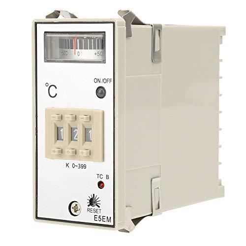 Temperaturregler, Kunststoff, 0–199 ℃/0–399 ℃, 45 x 92 mm Heizmatten-Thermostat.