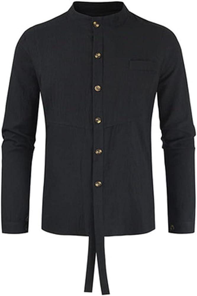 Ulooker Men's Casual Dress Shirt Button Down Shirts Long-Sleeve Regular-fit Casual Shirt