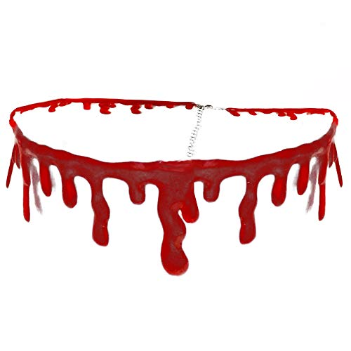 Dripping Blood Choker Vampire Costume Accessory