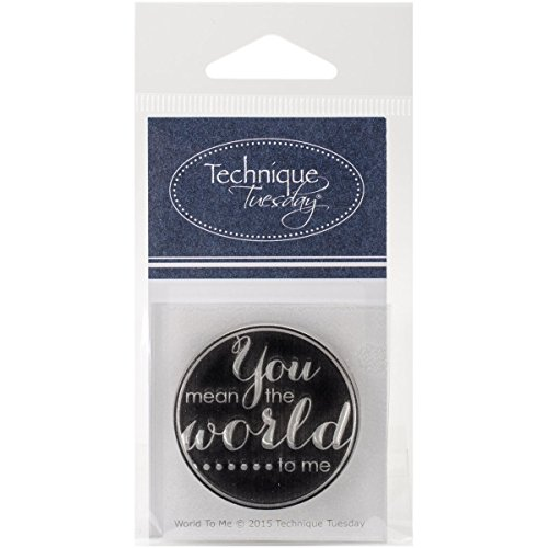 Technique Mardi Technique Mardi Tampons Transparents 5,1 cm X 6,3 cm World to me, Acrylique, Multicolore