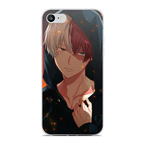 JSBFR Case for Apple iPhone 6/6s, Shouto-Todoroki Fire 4 Soft Flexible TPU Ultra-Thin Shockproof Transparent Coque Custodia Cover Case