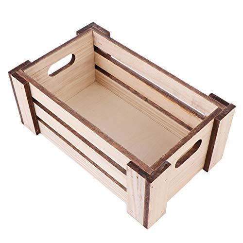 Cabilock Bauernhaus Holz Nistkisten Rustikale Dekorative Lagerung Palettenkasten Organizer Bin Medium