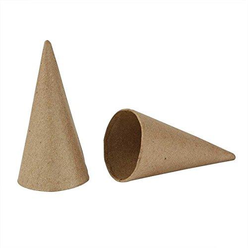 Creativ Company Zapfen, 10 Stück, H: 10 cm, D: 5 cm, braun