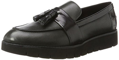 Geox D Blenda A, Mocasines Mujer, Gris Anthracite