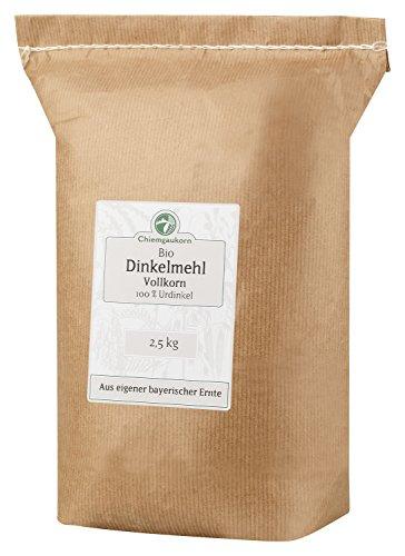 Chiemgaukorn Bio Dinkelmehl Vollkorn 2,5 kg, Urdinkel