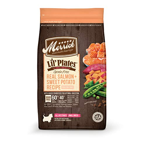 Merrick Lil Plates Grain Free Small Breed Recipe, 12-Pound, Salmon