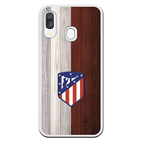 Funda para Samsung Galaxy A40 Oficial del Atlético de Madrid Madera para Proteger tu móvil. Carcasa para Samsung de Silicona Flexible con Licencia Oficial de Atlético de Madrid.