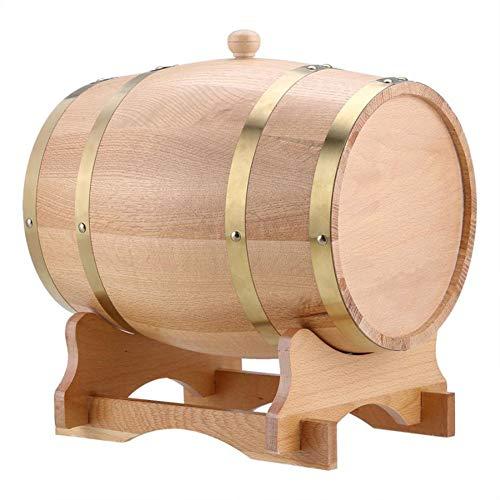10 Liter Eiche gebraute Weinfässer, Aluminiumfolie Futter, chemische Beständigkeit, staubdicht, versiegelt, für Weinkeller Party Bankett