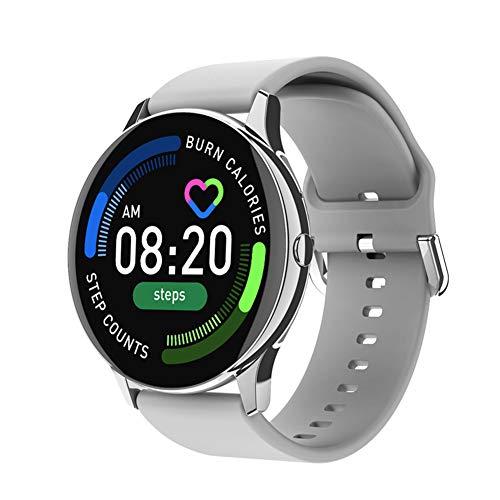 Equipado con una Pantalla táctil de 1,28 Pulgadas, un Monitor de frecuencia cardíaca y oxígeno en Sangre, y un Reloj Inteligente con múltiples Modos de Ejercicio. Compatible con Android/iOS