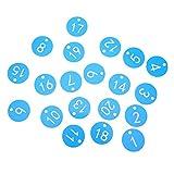 Lecxin Etichetta numerata, Etichetta con Numero di Fattoria Durevole, per l'allevamento di Animali da Apicoltura(Blue, 1-20/bag)