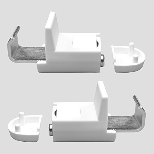 KLEMMFLEX Klemmträger mit Magnet für Alu-Jalousien und Rollos mit metallischer Unterschiene - Farbe: Weiss