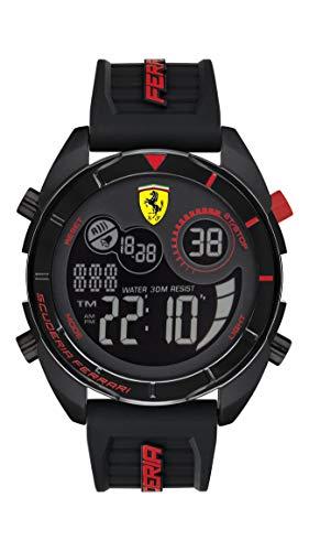 Scuderia Ferrari Orologio Quarzo con Cinturino in Silicone 830743