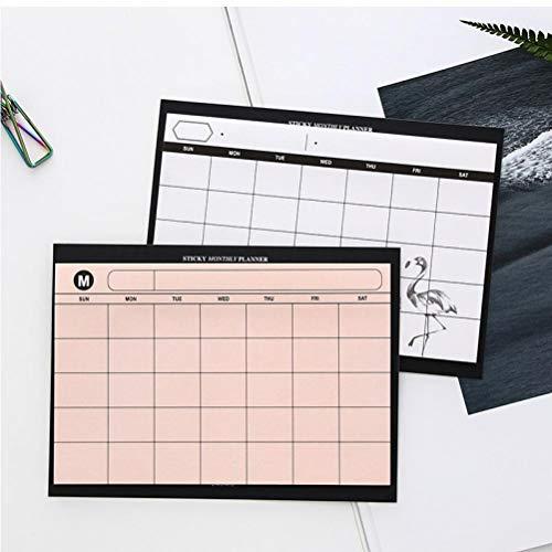 1x Rosa Creativas Suministros Sencillo planificador de Escritorio Plan mensual de Mini Kawaii Cuadernos Oficina de Trabajo de la eficiencia Organizador Resumen
