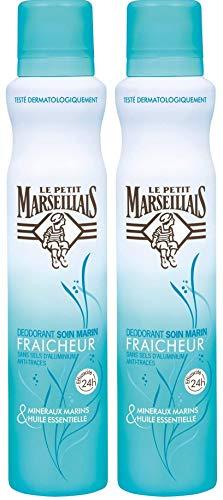 Le Petit Marseillais Déodorant Fraicheur 24h Soin Marin 200 ml - Lot de 2