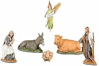 BERTONI Figura de Belén, Juego de 6, Madera, 10 cm