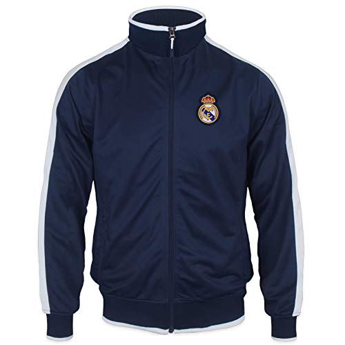 Real Madrid Official Football Gift Boys Retro Track Top Jacket Navy 6 Years