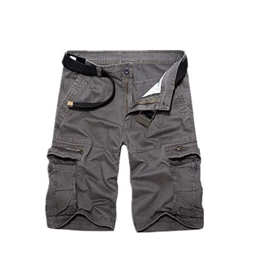 U/A Mens Militar Pantalones Cortos De Carga De Verano Del Ejército Verde De Algodón Pantalones Cortos De Los Hombres Sueltos Multi-Bolsillo Cortos Homme Casual Pantalones De