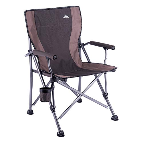 Ablazer Camping Chair with Carry Bag Ergonomic Heavy Duty Structure,Foldable,Padded Seat, Hard Armrest, Free Side Cupholder (New Version Seat Fabric is Undetachable)