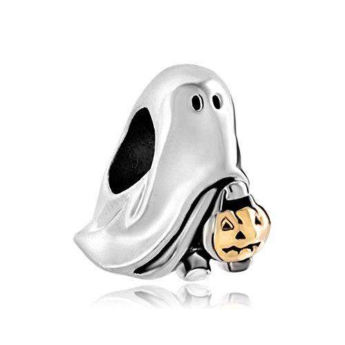 Uniqueen Jack-o-lantern Weird Halloween Ghost Pumpkin Charm Beads Fit Bracelet Gifts