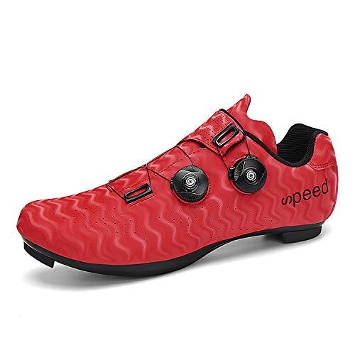 Fei Mei Calzado Bicicleta Carretera para Hombre, Calzado Deportivo Profesional para Bicicleta con Cierre Automático, Zapatillas De Ciclismo para Exteriores para Mujer