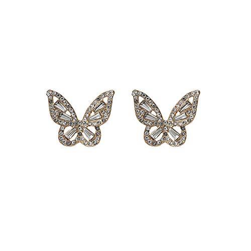 BeniS925 aguja de plata lindos pendientes de nicho simples pendientes de mariposa brillante nuevo estilo femenino