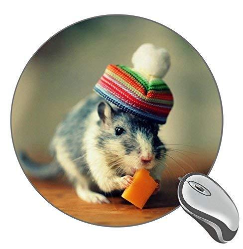 Maus-Käse-Hut Lustiges rutschfestes Gummi-Mauspad rundes Mousepad