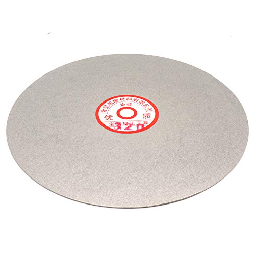 Rannb Flat Lap Wheel 320 Grit 8-inch Outer Dia Diamond Coated Grinding...