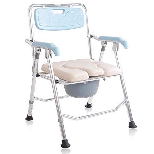 HYY-YY Silla de ducha, silla plegable y envolvente de inodoro, ligera, resistente, simple, soporte de baño para personas mayores, discapacitados, abuelos.