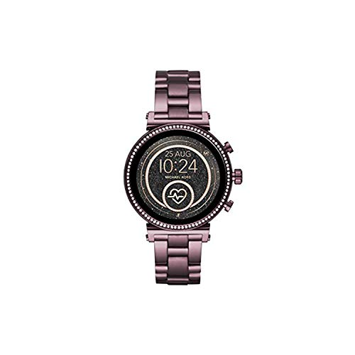 Michael Kors Access Womens Sofie HR Touchscreen Stainless Steel Smartwatch, Plum-MKT5074