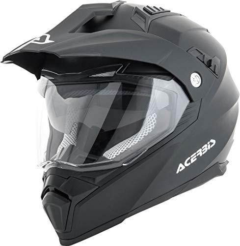 Acerbis 0022310.091.066 Casco Flip Fs-606 Nero 2, Helmet Uomo, Black, L