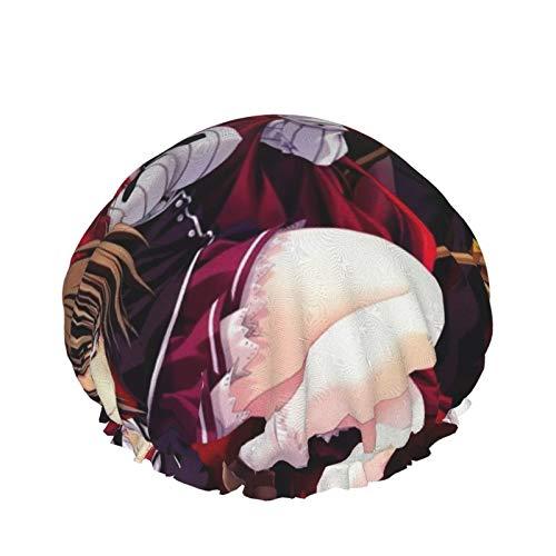 High School Dxd Gremory Rias Hyoudou Bonnet de douche double couche imperméable et réglable pour femme Design surdimensionné Convient à tous les cheveux
