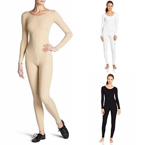 sharprepublic Ballettanzug Turnanzug Ballett Trikot Frauen Mädchen Tanzbody Gymnastikanzug Ballettbody Ganzkörperanzug Catsuit - Schwarz, m