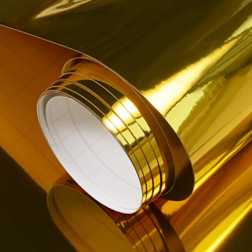Chrome Gold Craft Adhesive Vinyl Roll 12 inches by 6ft