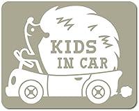 imoninn KIDS in car ステッカー 【マグネットタイプ】 No.37 ハリネズミさん (グレー色)